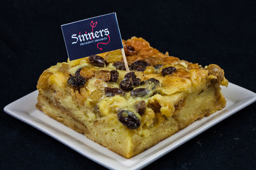 Bourbon Crossant bread pudding