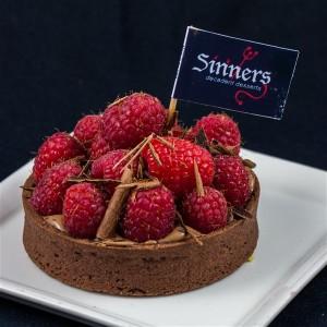 chocoalte raspberry tart