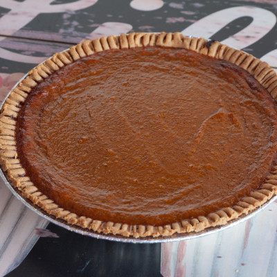 pumpkin & sweet potato pie