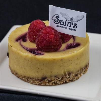 vegan passion fruit cheesecake