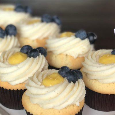 gluten free lemon blueberry cupcake